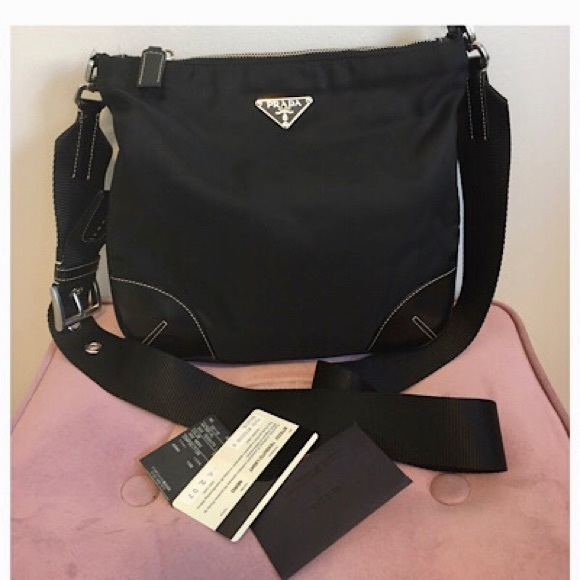 PRADA Tessuto Crossbody Bag w/ AUTHENTICATION cert